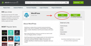 Begin Installating Your WordPress CMS
