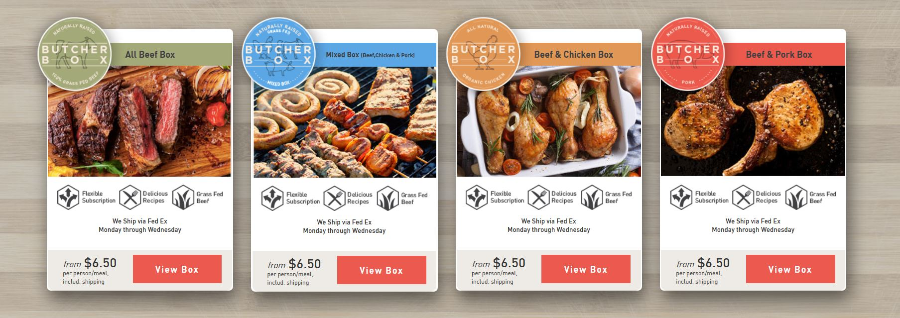 Butcher Box Packages Of Grass Fed Meats Delivered Locally