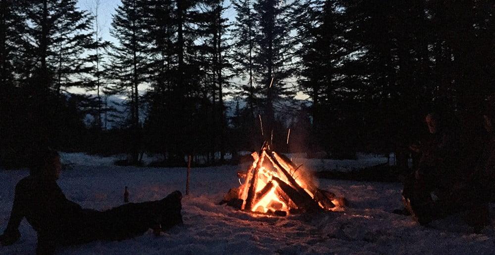 2016-maine-snowmobiling-trip-campfire