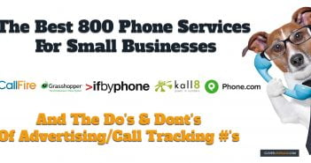 Dog picture comparing the best 800 number services for small business