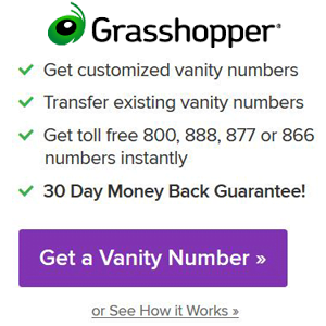 Grasshopper Vanity Number Search
