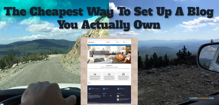 The cheapest way to setup a blog you own the content rights on