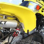 CT Racing exhaust installed on a 2003 Suzuki LTZ 400
