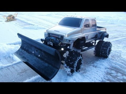 Amazing Remote Control Snow Plow Toy Clears Your Driveway