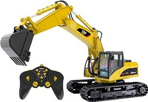 TopRace Rc Excavator With Working Hydraulic Bucket, Lights, And Sounds