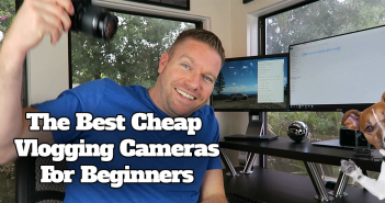 Matt testing the best vlogging cameras for youtube vids