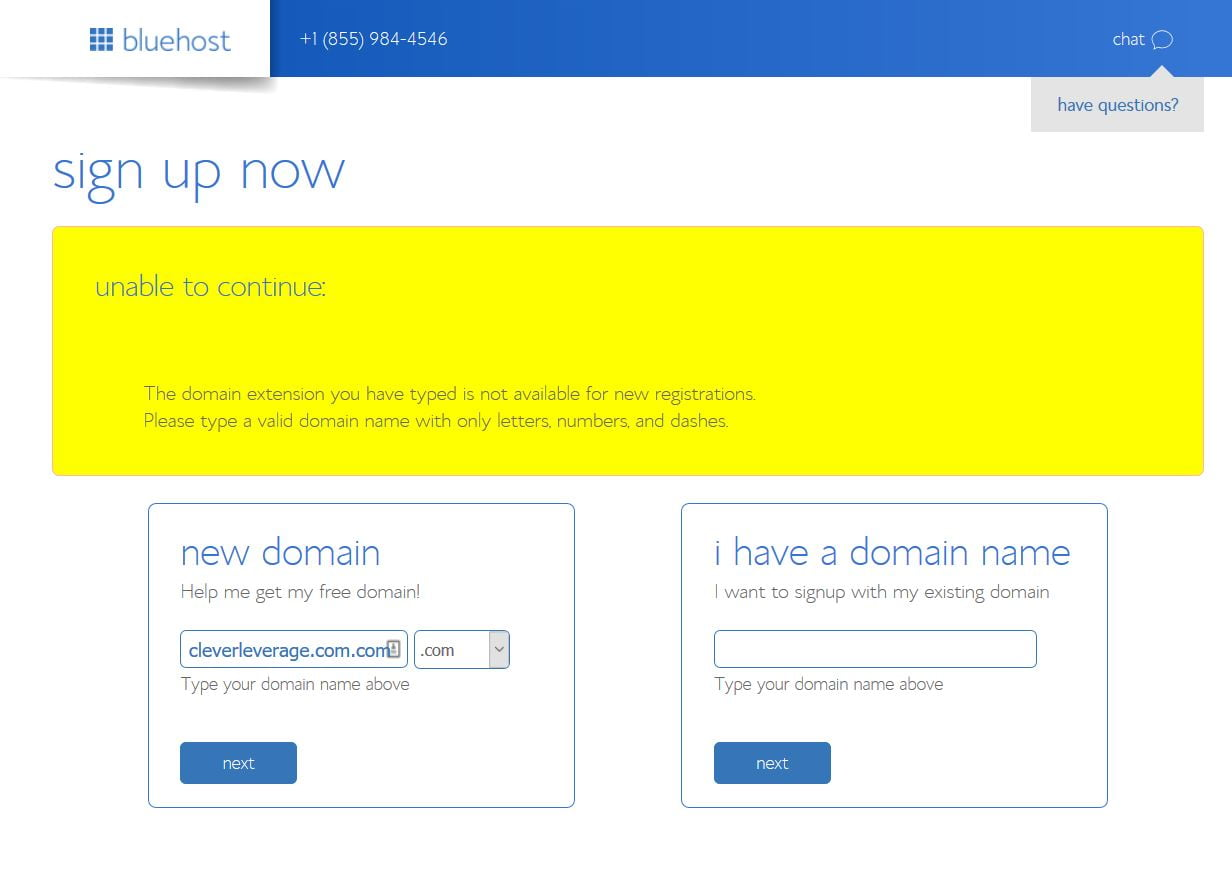blog-setup-domain-taken