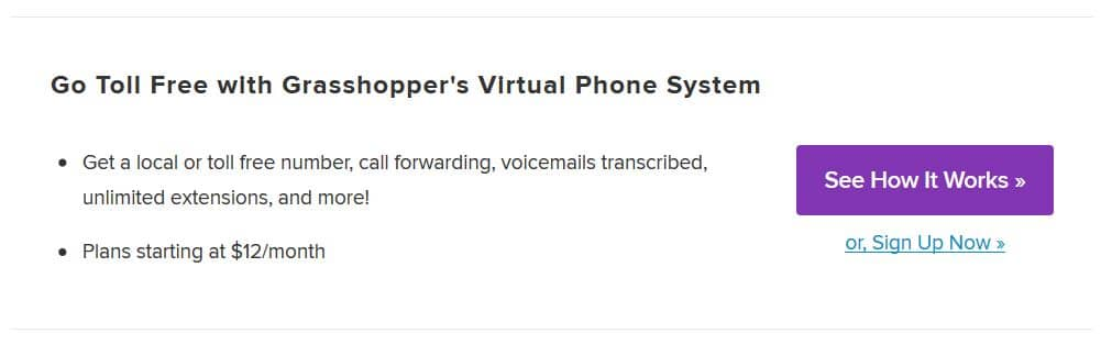 Grasshopper Toll Free Virtual Phone System