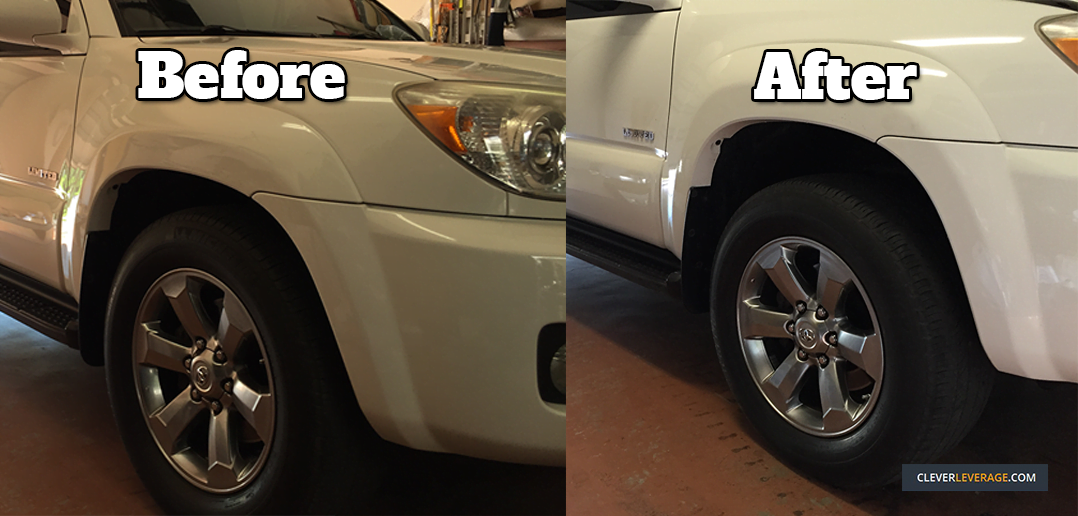 4runner ride height before and after replacing the front struts