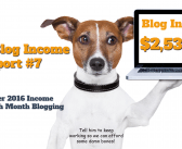 Clever Blog Income Report #7: How I Made $2,538.81 My 7th Month Blogging In September Of 2016