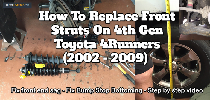 How To Replace Front Struts On A 2006 Toyota 4Runner (4th gen, applicable to 2002-2009 models)