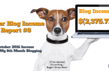 October 2016 Blog Income Report Update