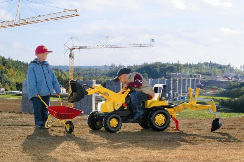 kids-construction-site-with-ride-on-jcb-loader-at-work