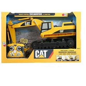 "Caterpillar Remote Control Excavator Toy With Lights And Sounds - 15"" Model"
