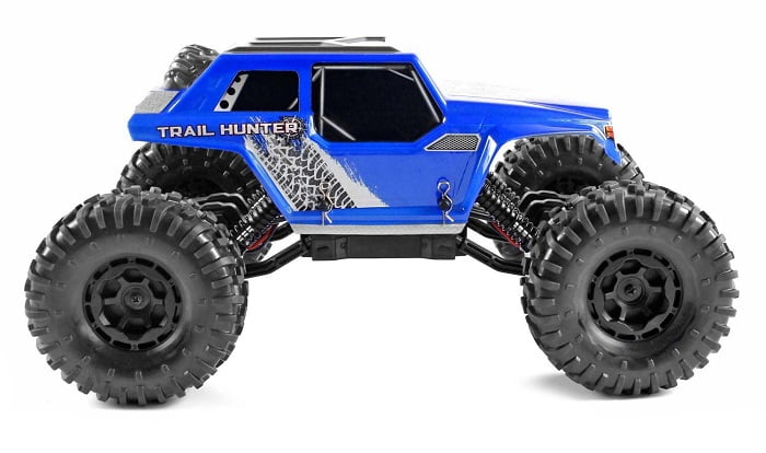 Danchee Trail Hunter 1/12 Scale Remote Control Rock Crawler Off Road Truck, Blue