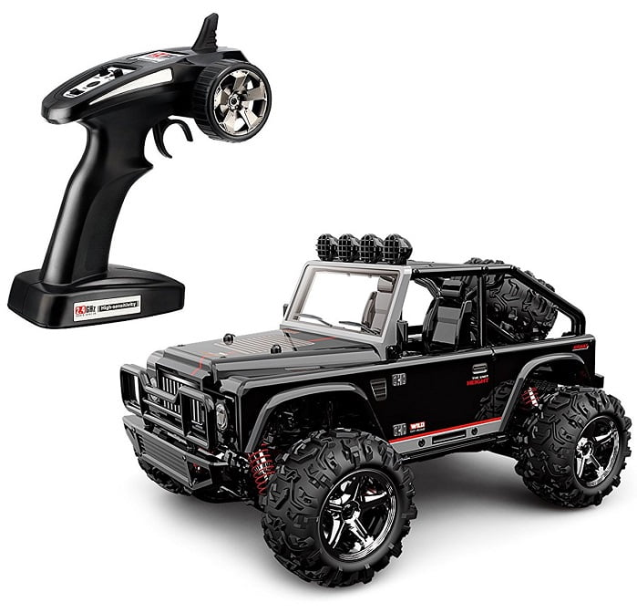 TOZO C1155 RC CAR Battleax High Speed 32MPH 4x4 Fast Race Cars 1:22 RC SCALE RTR Racing 4WD ELECTRIC POWER BUGGY W/2.4G Radio Remote control Off Road Powersport black