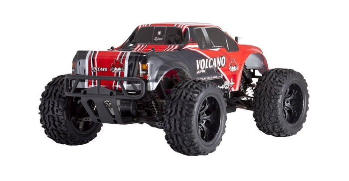 Redcat Racing Electric Volcano EPX Truck with 2.4GHz Radio, Vehicle Battery and Charger Included (1/10 Scale), Red