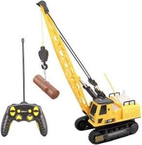 TopRace Remote Control Crain With Log Loader Attachment Boom