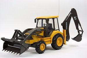 Volvo RC Backhoe Toy Model