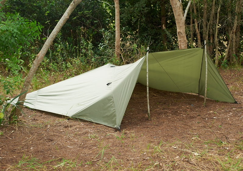 Snugpak All Weather Shelter Setup In A Survival Training Camp