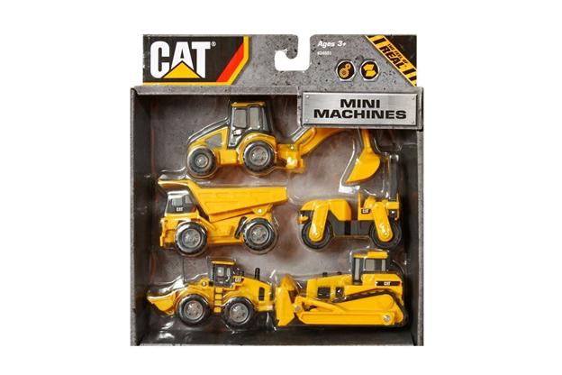 Cat Mini Machines Caterpillar Construction Toys 4 Piece Set