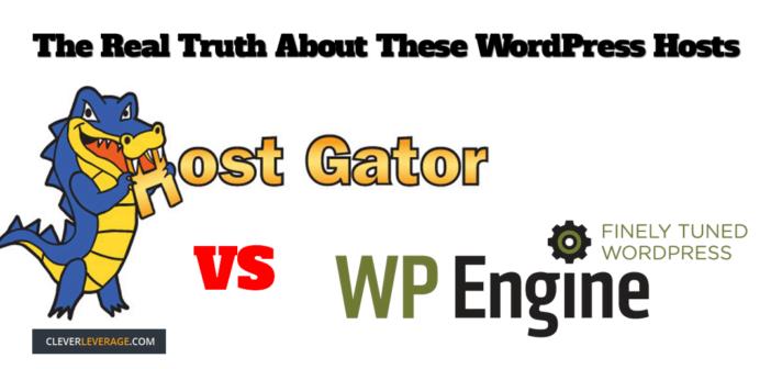 Faceoff between WpEngine & Hostgator wordpress hosting companies