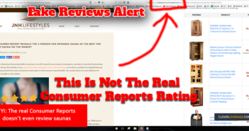 fake consumer reports infrared sauna review ratings