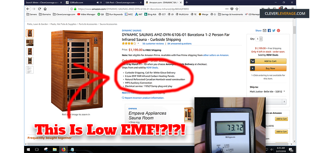 Costco Infrared Sauna EMF Reviews (way higher than advertised ...